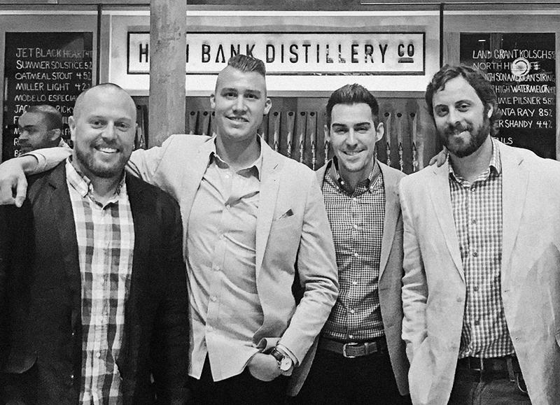 Pictured left to right: Adam Hines, Calvin Jones, Jeff Ireland & Jordan Helman