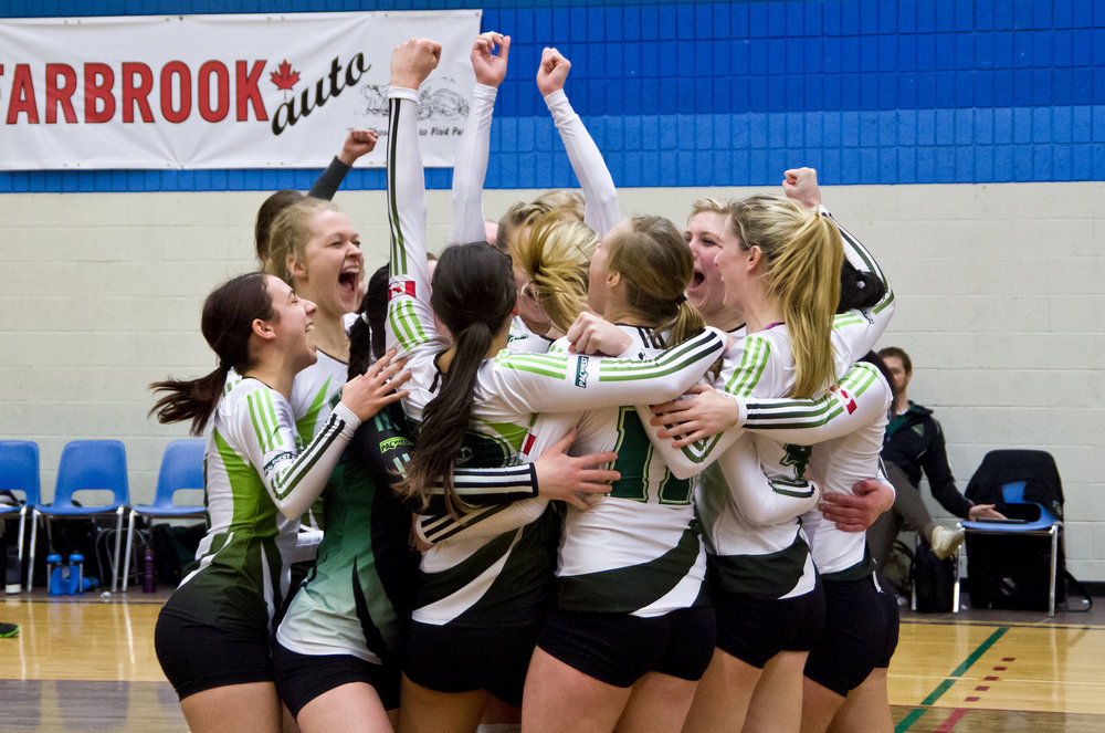 UFV women's volleyball -- PACWEST champs BY University of the Fraser Valley  UNDER  CC BY 4.0
