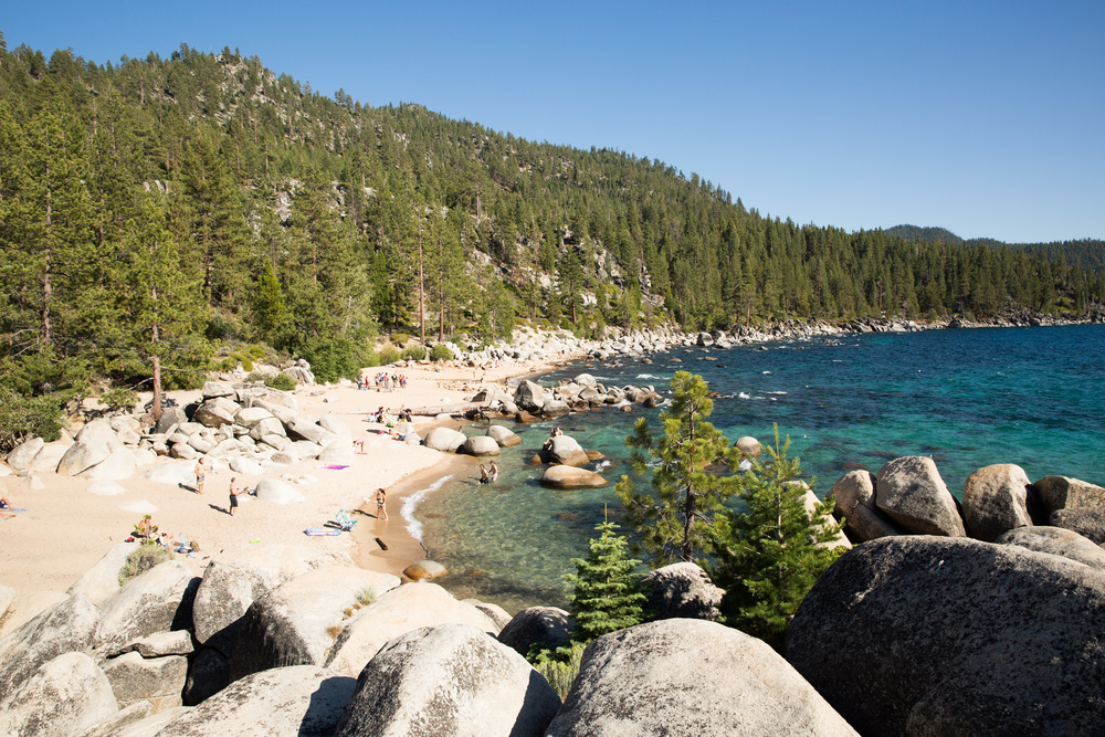 The stunning clear waters of Lake Tahoe!