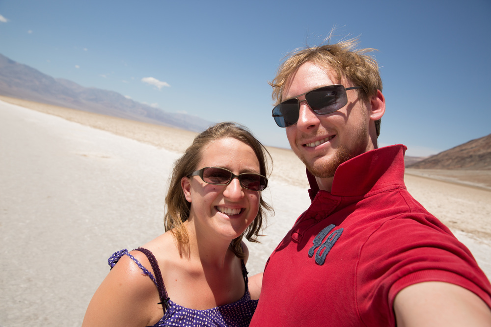Death Valley. THE HOTTEST PLACE EVER! A chilled 48oC!