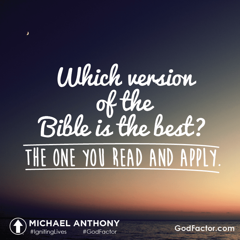Which version of the Bible is best?