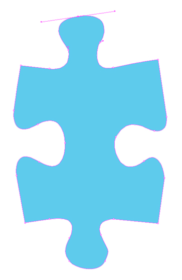 This is a vector drawing of a puzzle piece.