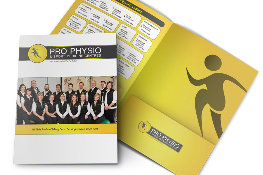Pro Physio & Sport Medicine Centres: Kit Folder Design