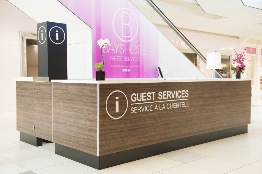 Bayshore Shopping Centre, Customer Service Wall Design