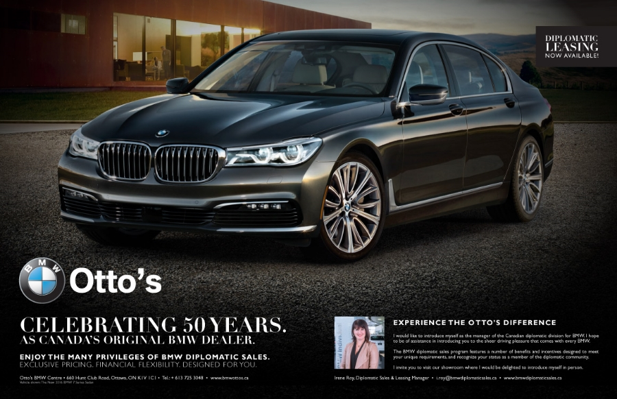 Canada's Official Diplomatic BMW Centre, Double Page Spread Ad