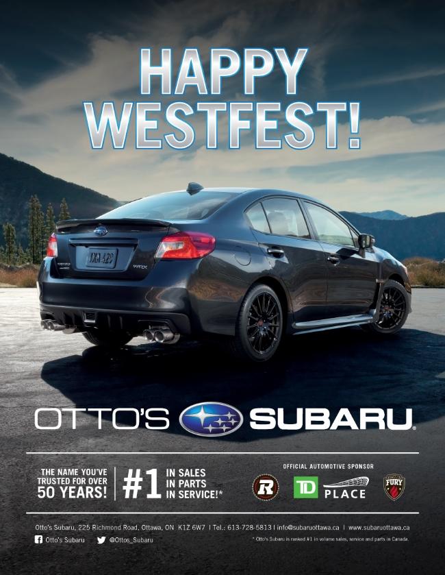 Otto's Subaru, Westfest Ad