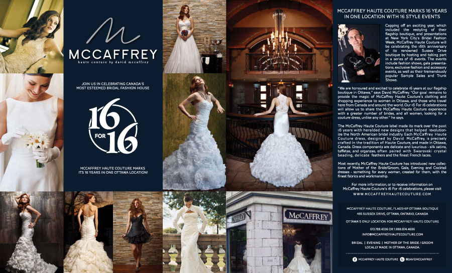 McCaffrey Haute Couture: Double Page Spread Feature