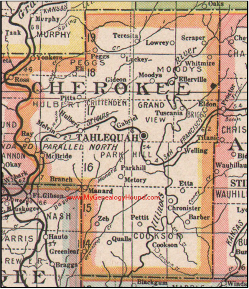 Cherokee County, Oklahoma