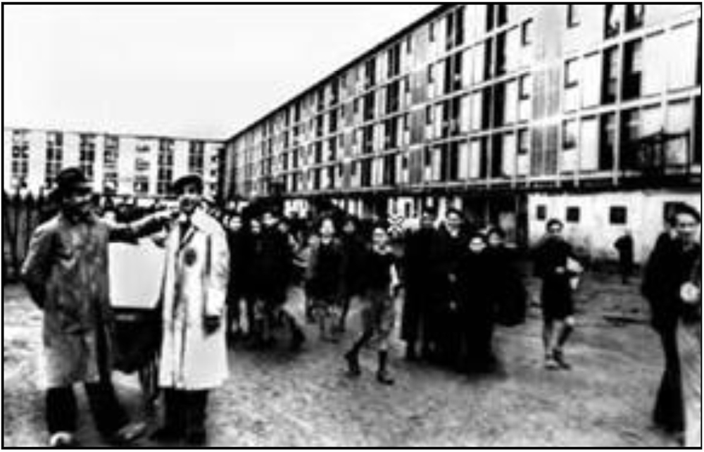 Drancy courtyard, French concentration camp, WW II