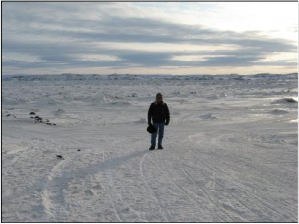 Frobisher Bay (Iqaluit), Canada, in winter