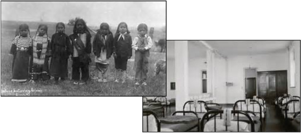 Soon to go to school / Dormitory —images from Indian residential boarding schools