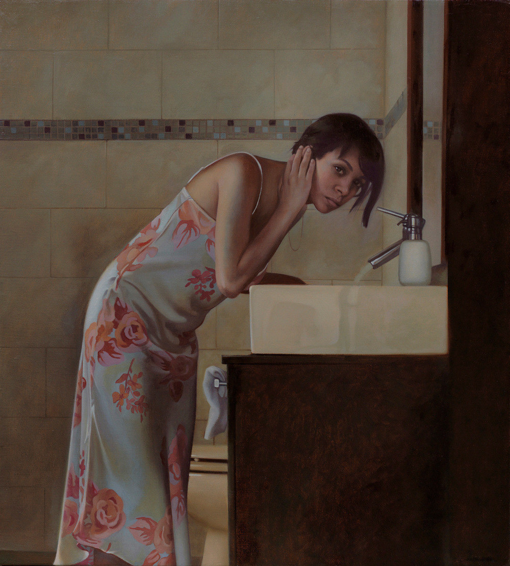 Pilar , 2015, Oil on linen, 22 x 20 inches, Private collection