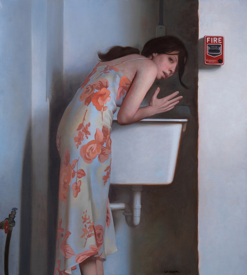 Quench , 2015, Oil on linen, 22 x 20 inches, Private collection