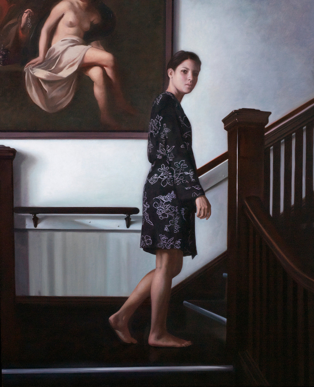 Inversion, 2014, Oil on linen, 32 x 26 inches, Private collection