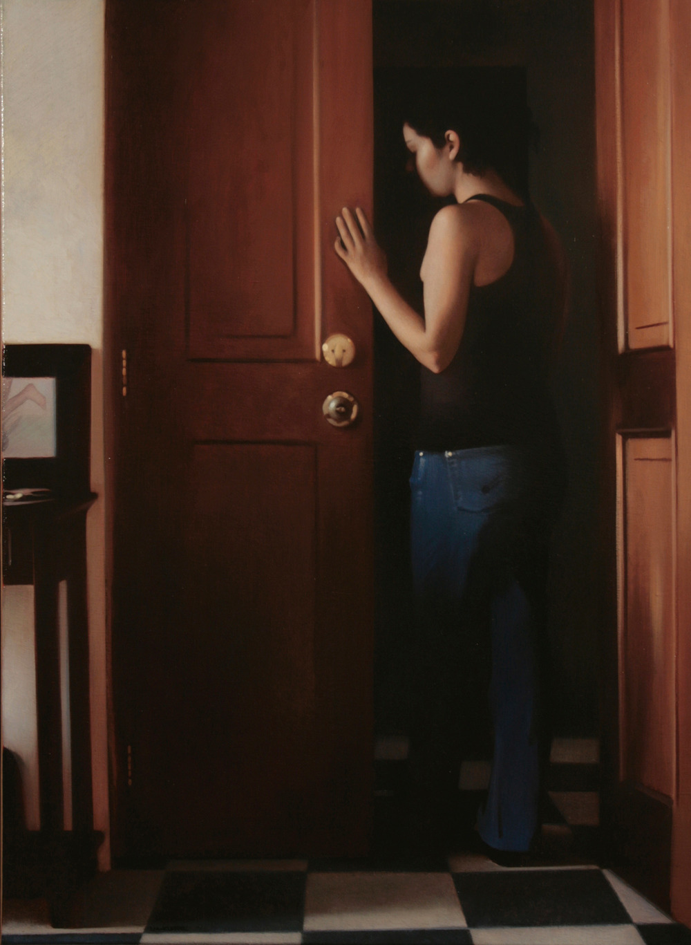 Evanesce, 2010, Oil on linen, 30 x 22 inches, Private collection