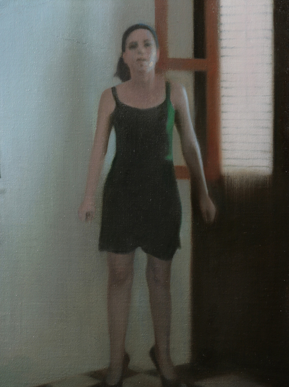 Jump Study , 2008, Oil on linen, 11 x 8 inches, Private collection