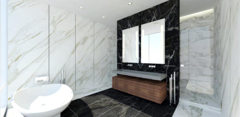 pent house: master bathroom