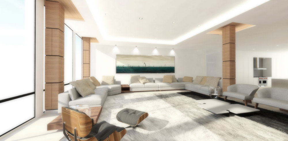 pent house: living room