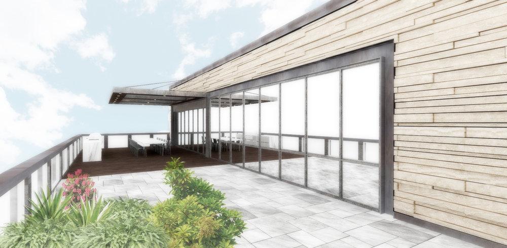 pent house: terrace