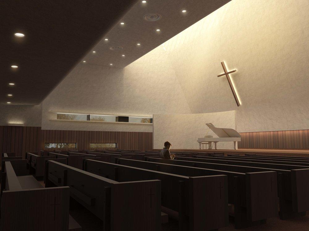 interior view: Sanctuary