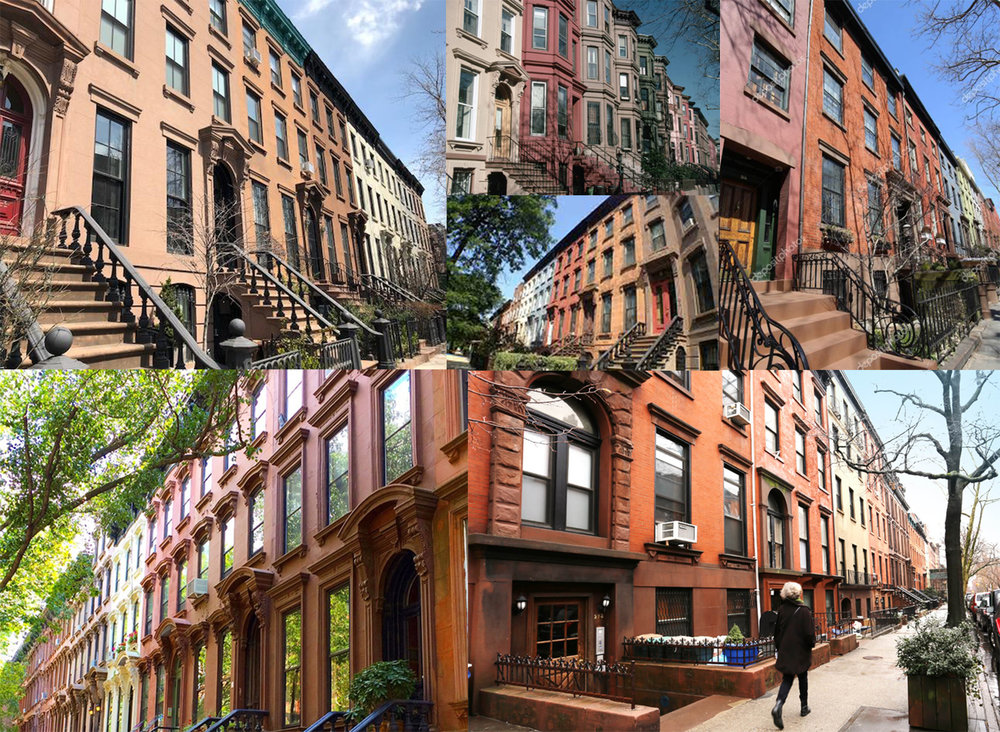 Reference image: Brownstone housing facade