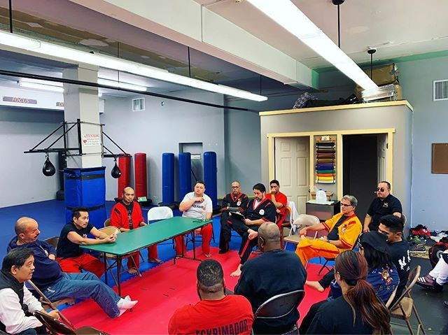 Meeting of the minds. Thanks for sharing your thoughts, frustrations and potential solutions at today's Grandmasters Seminar. #martialarts #fma #docepares #eskrima #kali #arnis #jerseycity #mabuhay #eskrimador #pinoy #filipino #stickfighting #martialartslife #selfdefense #mindlikewater #trainhard #seminar #expansion