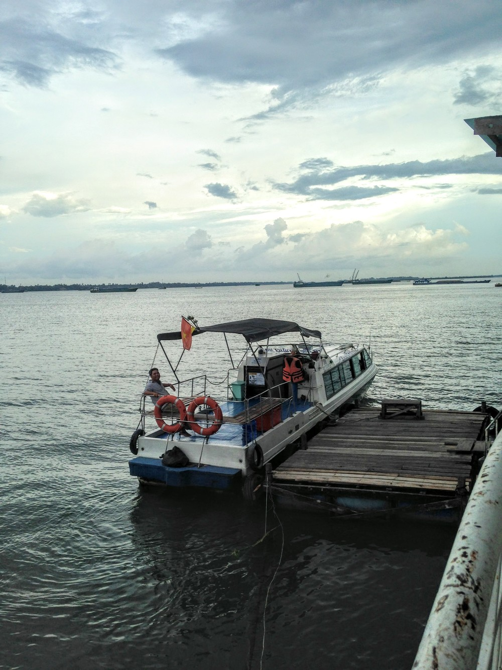 Our boat from Cambodia to VIetnam