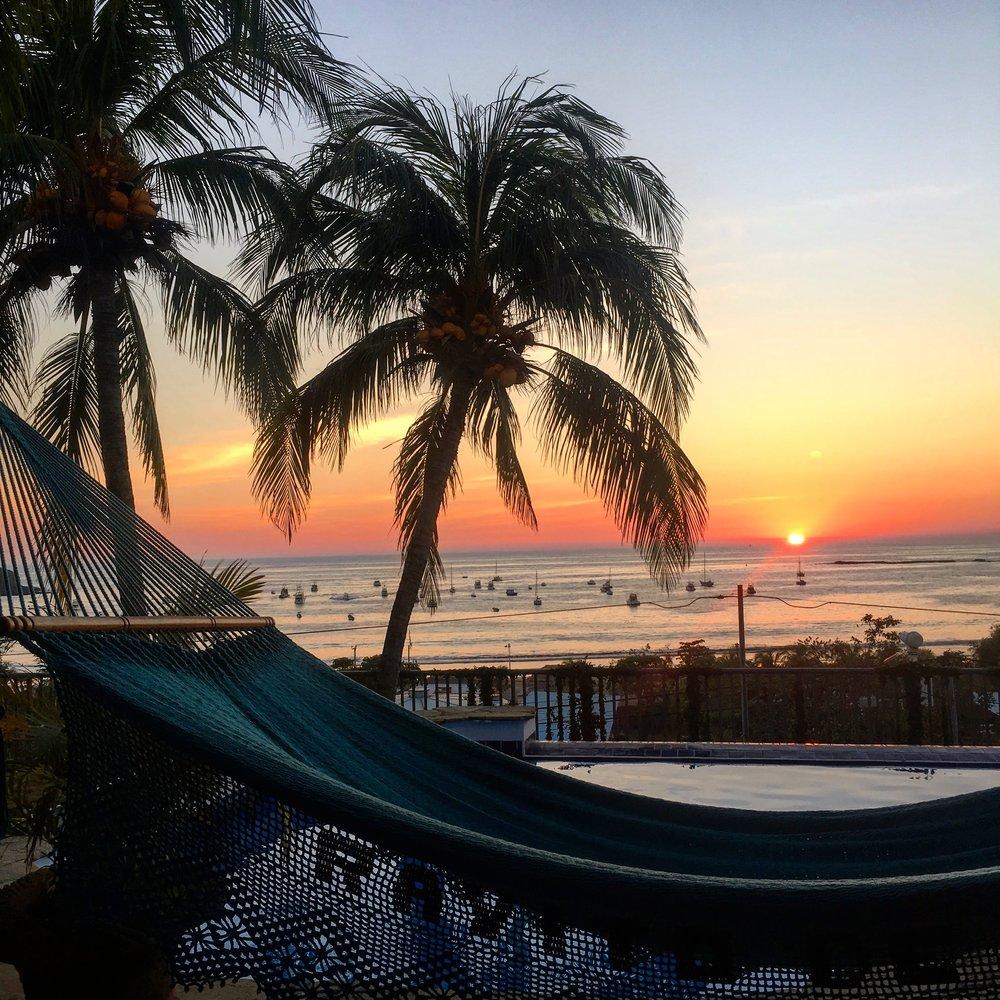 The sunset at NomadLife in San Juan del Sur, Nicaragua