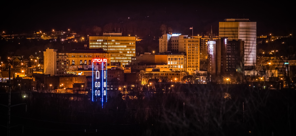 Utica NY at Night by Matt Ossowski