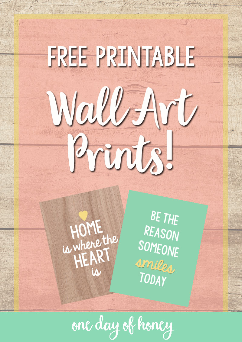 FREE Wall Art Printables from OneDayofHoney.com!