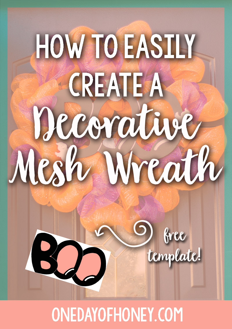 How to Easily Create a Decorative Mesh Ribbon Wreath Now! Click here: http://bit.ly/meshribbonwreath
