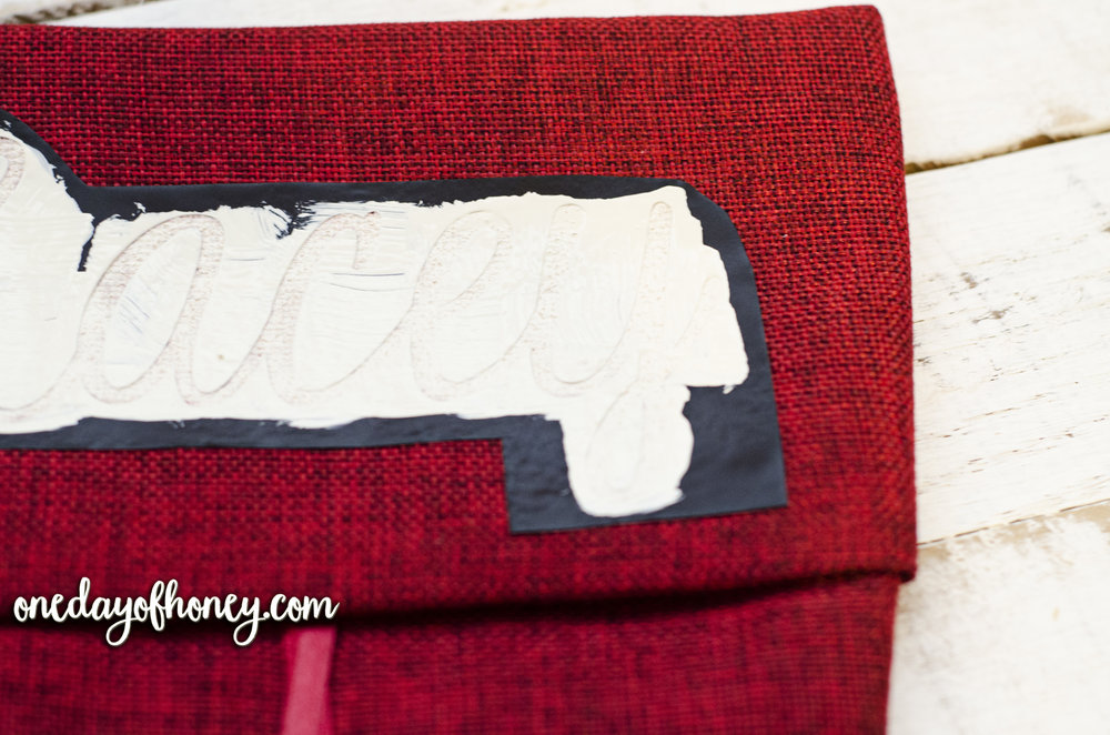 How to Make a Personalized Christmas Stocking for Less Than $6! Click here: http://bit.ly/personalizedchristmasstocking