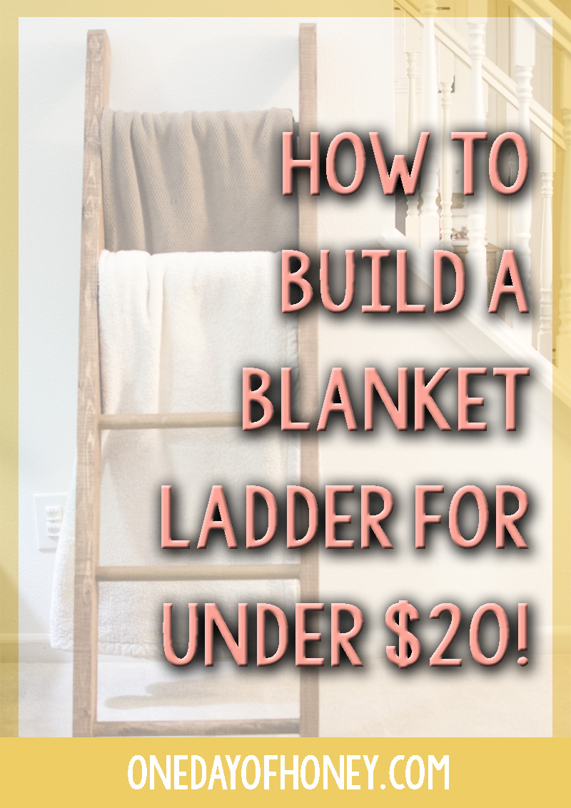 Build A Blanket How To Build A Blanket Ladder For Under 20 One Day Of Honey
