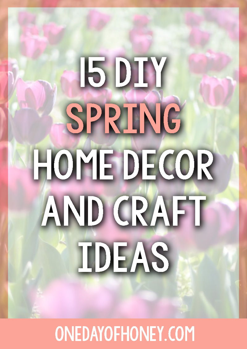 15 DIY Spring Home Decor and Craft Ideas | I have managed to collect some of the most beautiful and totally achievable Spring decor and craft ideas from some of the most fabulous ladies across the blogosphere. Click here to start beautifying your home for Spring >>> http://bit.ly/springdecor1