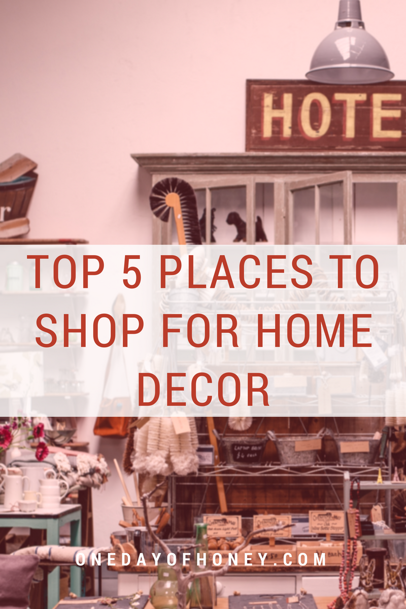 When it comes to finding home decor, these are our favorite spots to check out!  Read more >>> http://bit.ly/shopforhomedecor