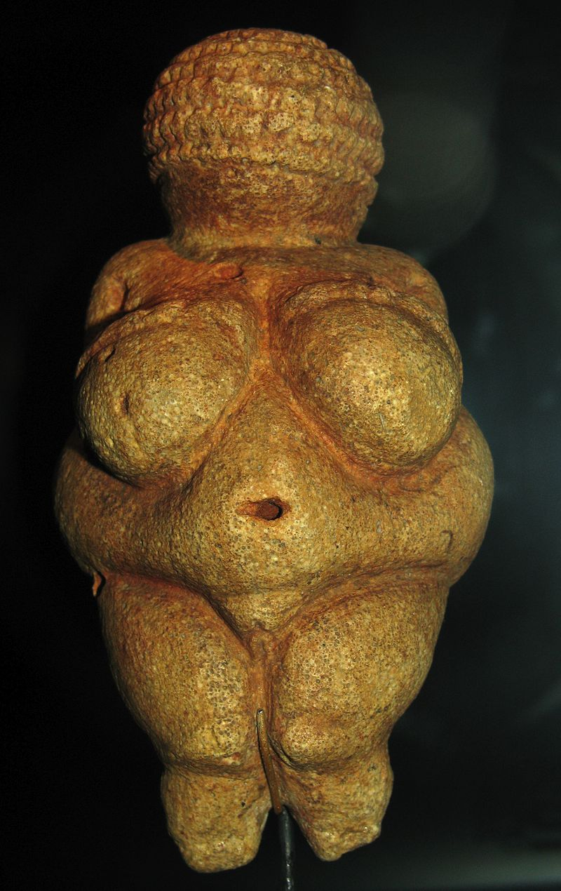 Austria's younger Venus of Willendorf has got more attention - but our Girl has an unobstructed world view.