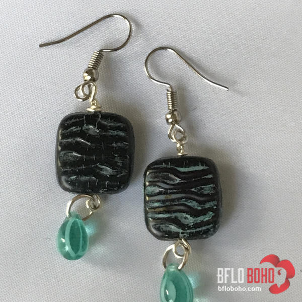 Limited edition Czech Glass earrings made with unique molds and or vintage glass