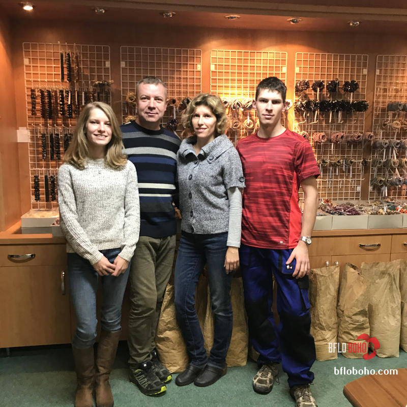 Eva, Jiri, Ivana, Jiri Sikolat he day we met them in Dec 2017