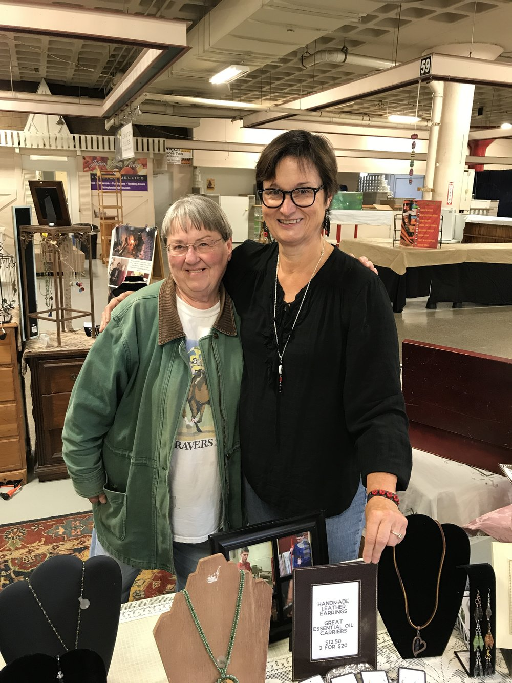 Linda Steffan - the wizard of all things leather - helps out every now and then at the Market — but her store is much cooler.