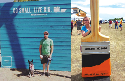 BEHR TINY HOME JAMBOREE Working with OLSEN ENGAGE we created an experience for goers of the BEHR Paint Tiny House Jamboree including giant photo walls and paintbrushes in spotlighted 2016 paint colors.