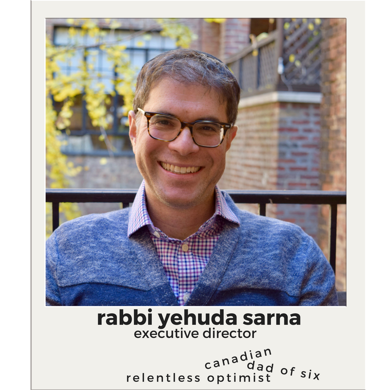 Rabbi Yehuda Sarna   University Chaplain/Skirball  Executive Director