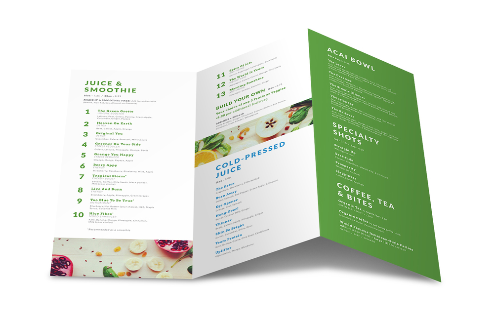 GreenGrotto_Menu