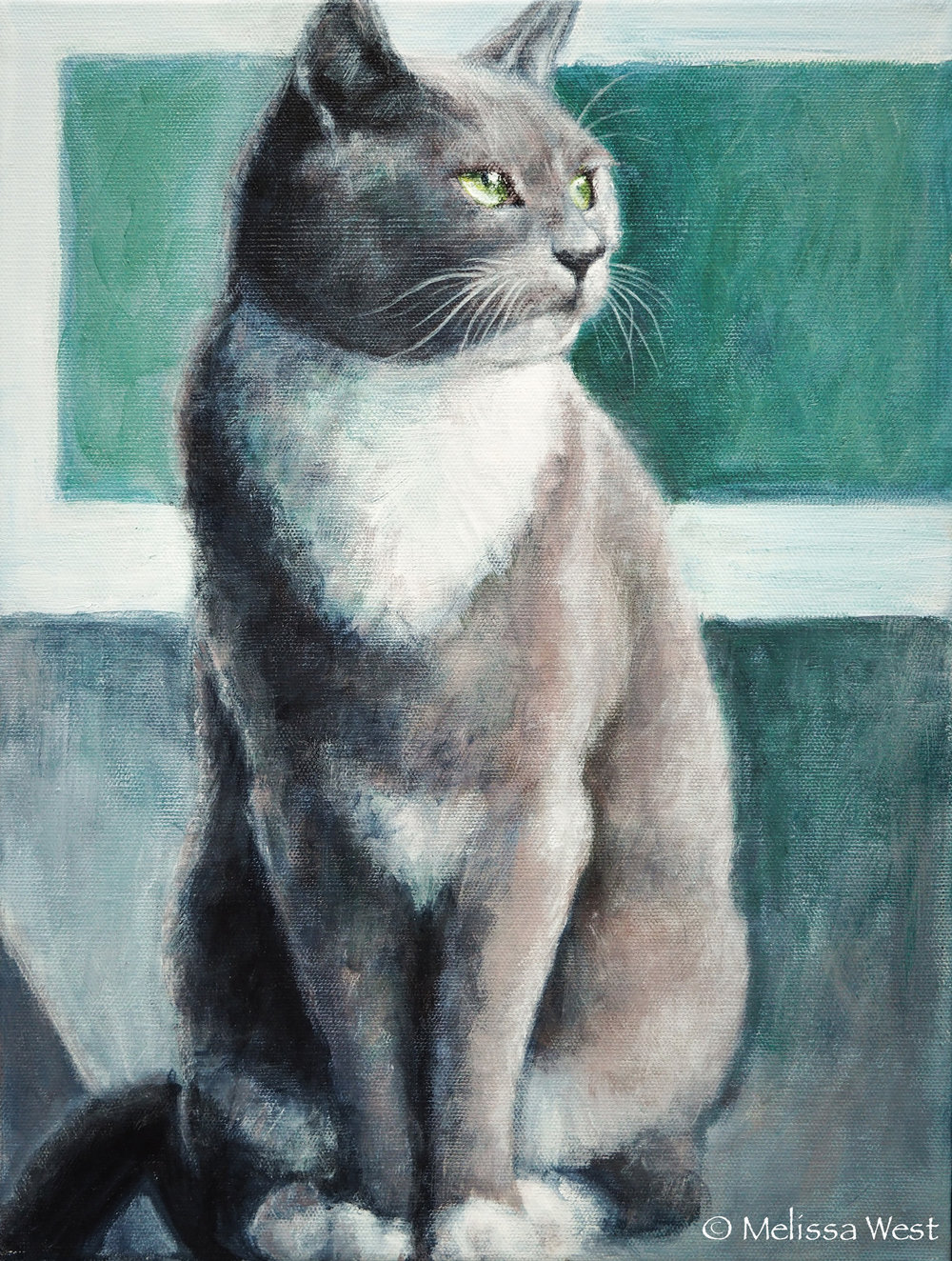 ELSIE, 11x14-in, Acrylic, Commission