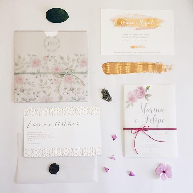 ✨Lançamento! ✨ Convites com envelope vegetal, modernos e cheios de estilo. 💖 . Orçamentos: contato@duoamor.com