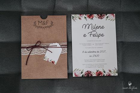 Milene ♥️ Felipe . 📷 @_amordefilme . . #identidadevisual #convites #papelariadecasamento #convitedecasamento #diy #casamento #duoamor