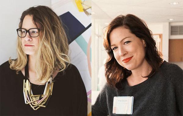 Left: Jaime Derringer / Right: Amy Devers