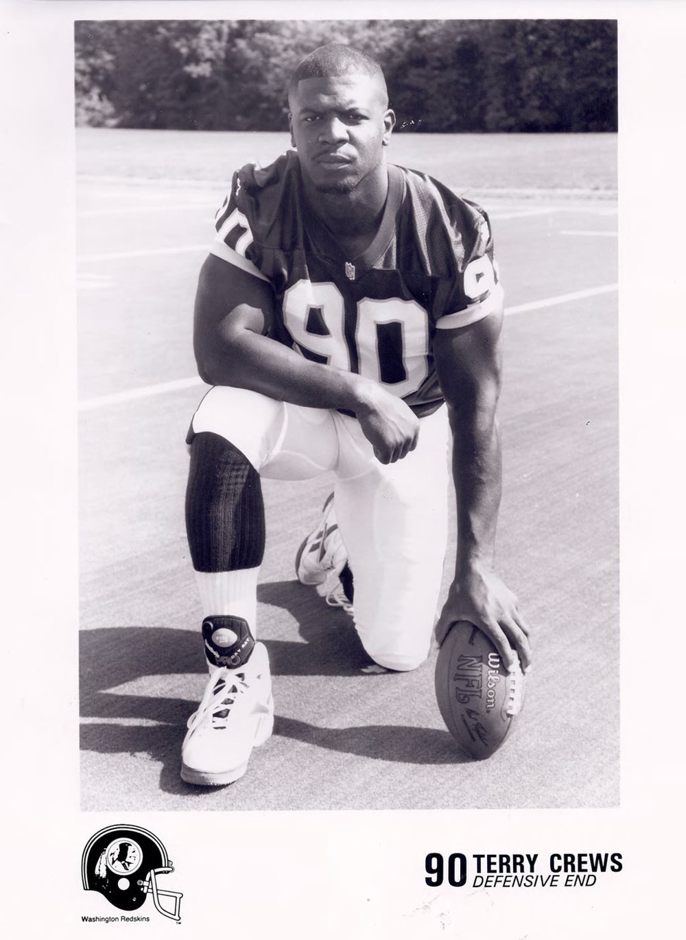 A young Terry Crews in the NFL