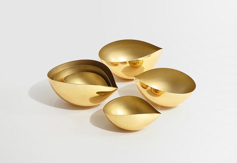 Brass nesting bowls