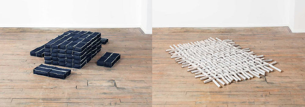 Support (left) and Tierra (right), 2014, Volume Gallery