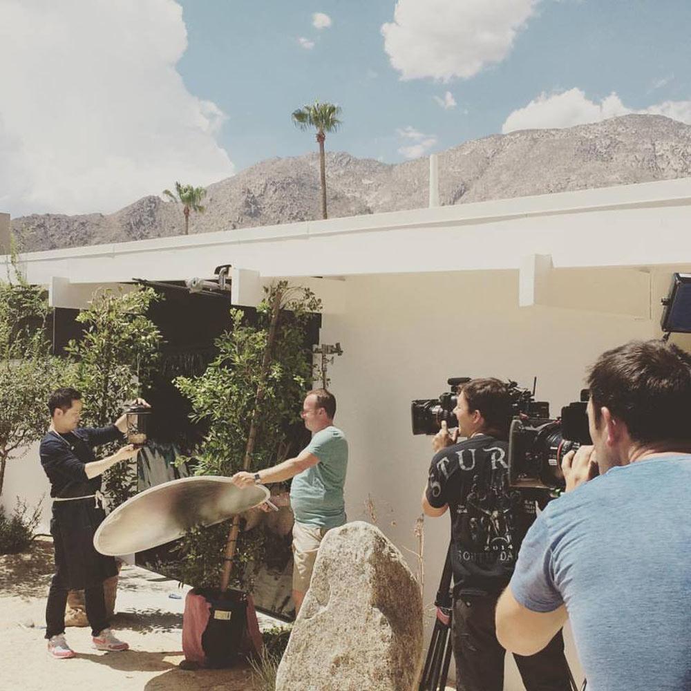 Danny on set